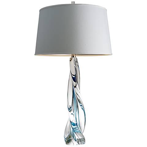 Ocean Twist Art Glass Table Lamp
