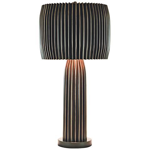 Crimp Bronze Metal Table Lamp
