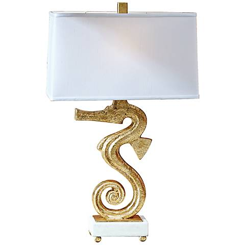 Seahorse Gold Iron Table Lamp