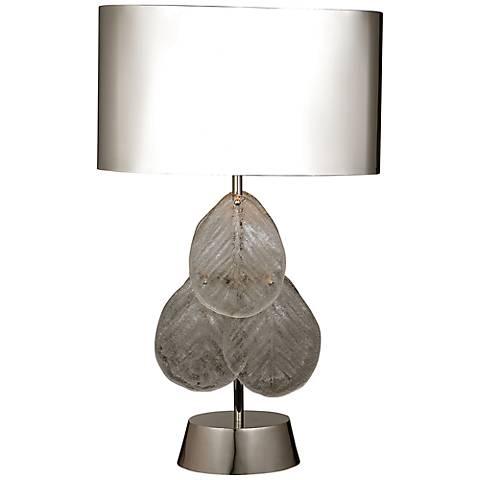 Murano Glass Leaf Nickel Table Lamp
