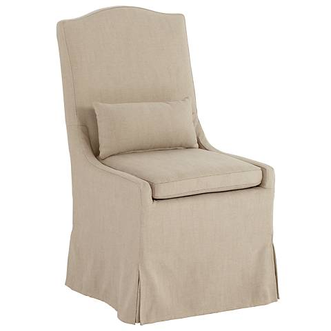 Juliete Hamlet Pebble Slipcover Dining Chair