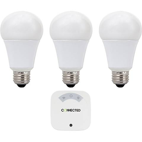 60W Equivalent 11W LED 3-Bulb Standard Connected System Kit