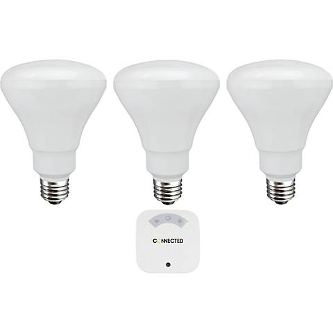 Connected 3-Bulb BR30 LED Automated Lighting System Kit