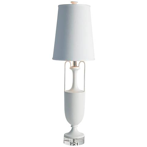 Grecian Amphora Matte White Ceramic Table Lamp
