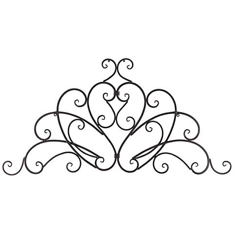 "Aria Crown Arch 38 1/2"" Wide Metal Wall Art"
