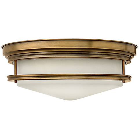 "Hinkley Hadley 20"" Wide Brushed Bronze Opal Ceiling Light"