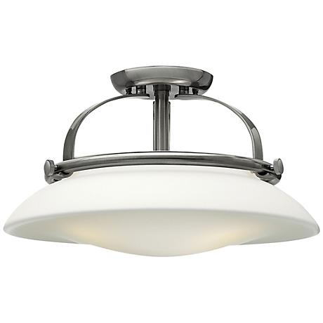 """Hinkley Hutton 16 1/2"""" Wide Brushed Nickel Ceiling Light"""