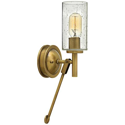 "Hinkley Collier 17"" High Heritage Brass Wall Sconce"