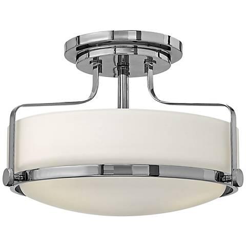 """Hinkley Harper 14 1/2"""" Wide Chrome Ceiling Light"""