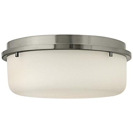"""Hinkley Turner 13"""" Wide Brushed Nickel Ceiling Light"""