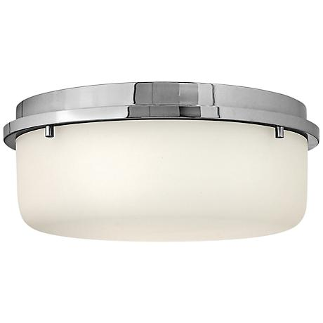 """Hinkley Turner 13"""" Wide Chrome Ceiling Light"""