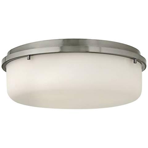 """Hinkley Turner 16"""" Wide Brushed Nickel Ceiling Light"""