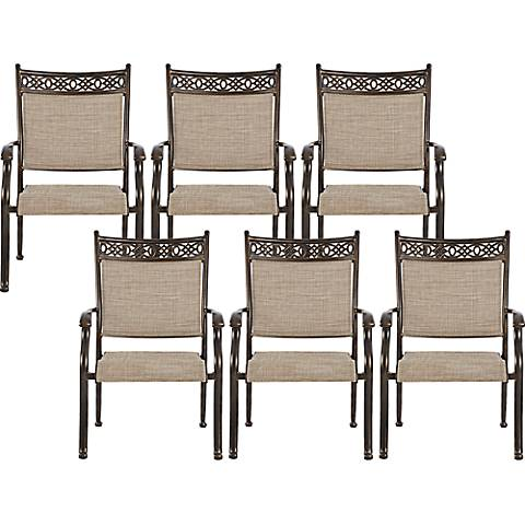 Cayside Bronze Outdoor Dining Chair Set of 6