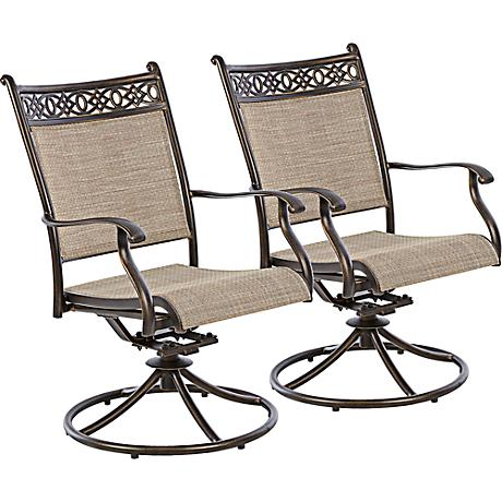 Cayside Bronze Outdoor Rocking Chair Set of 2