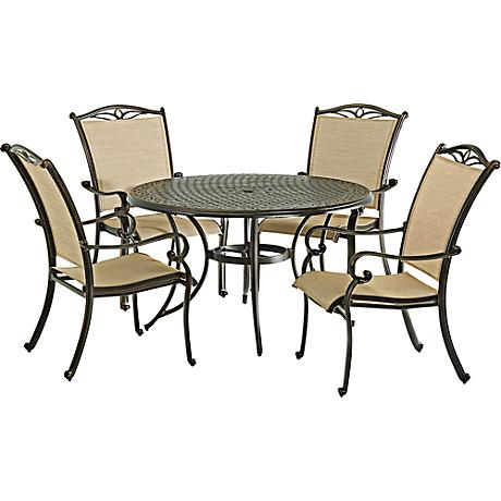"""Monarch Pointe 48"""" Round Outdoor Dining Table"""