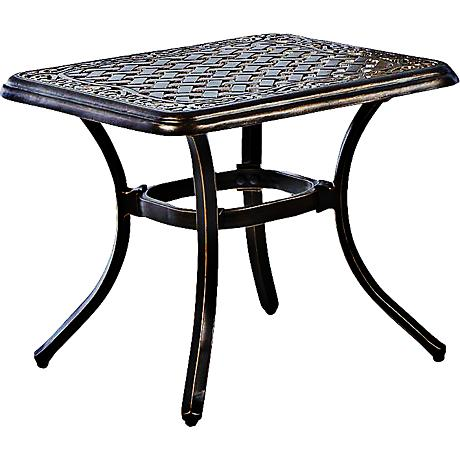 Monarch Pointe Square Outdoor End Table
