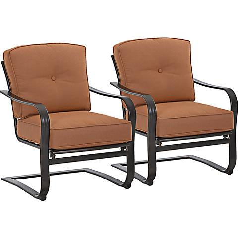 Lowell Bay Bronze Outdoor Accent Chair Set of 2