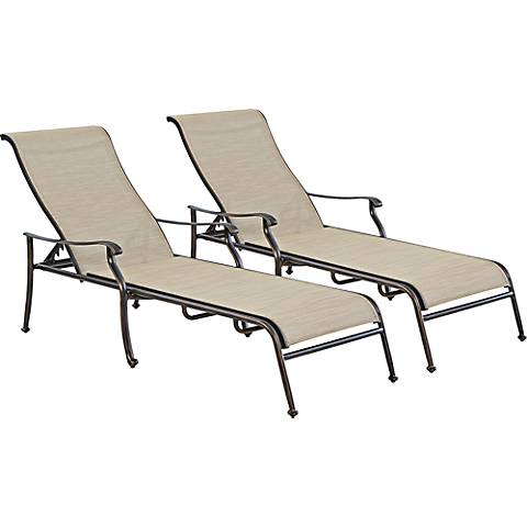Verona Bronze Outdoor Chaise Set of 2