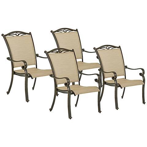 Verona Bronze Outdoor Dining Chair Set of 4