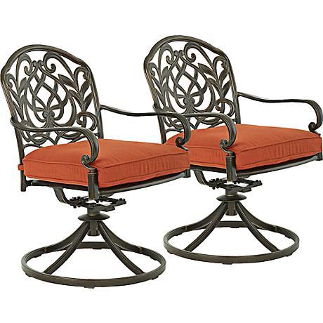 Riviera Bronze Outdoor Rocking Dining Chair Set of 2