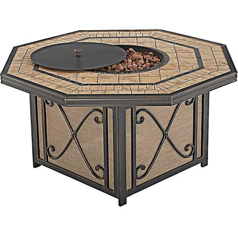 "Apollo Bronze 46"" Wide Outdoor Fire Table"
