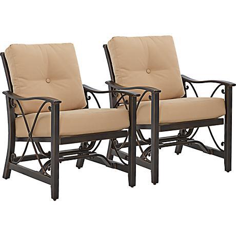 Apollo Bronze Outdoor Accent Chair Set of 2