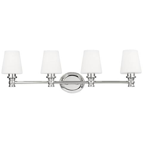 "Feiss Xavierre 32 1/4"" Wide Polished Nickel Bath Light"