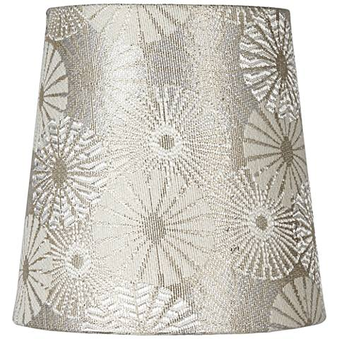 Metallic Champagne Chrysanthemum Shade 4x5x5 (Clip-On)