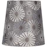 Metallic Gray Chrysanthemum Lamp Shade 4x5x5 (Clip-On)