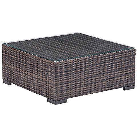 Zuo Bocagrande Outdoor Gradient Brown Square Coffee Table