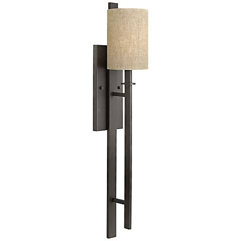 "Hinkley Sloan 33"" High Regency Bronze Wall Sconce"