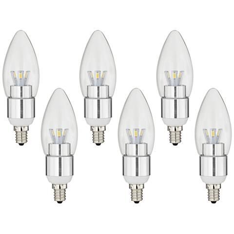 6-Pack 5 Watt Dimmable Candelabra LED Light Bulbs