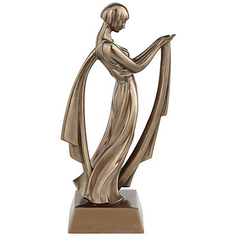 "Bronze Dancing Lady 12 3/4"" High Decorative Statue"