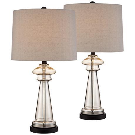 dalia champagne glass table lamp set of 2 8h818 8h818 lamps plus. Black Bedroom Furniture Sets. Home Design Ideas