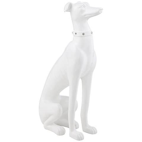 "White Dog 18 1/4"" High Statue"