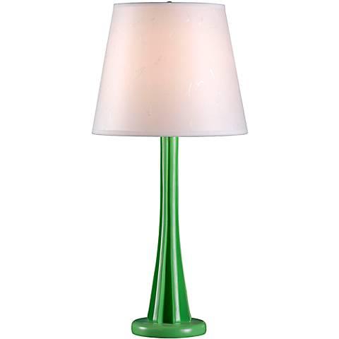 Kenroy Home Swizzle Lime Green Modern Table Lamp