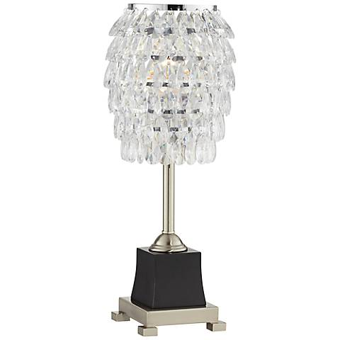"Tosta Clear Beaded 21"" High Console Table Lamp"