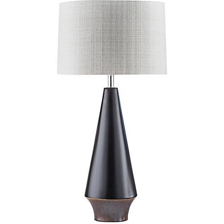 Nova Buoy Neo Nautical Matte Black Ceramic Table Lamp
