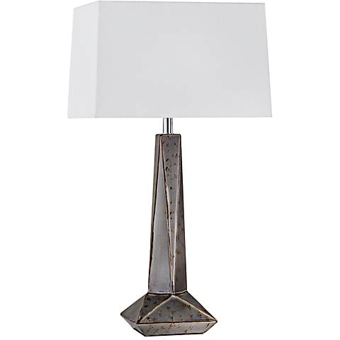 Nova Facets Weathered Charcoal Ceramic Table Lamp