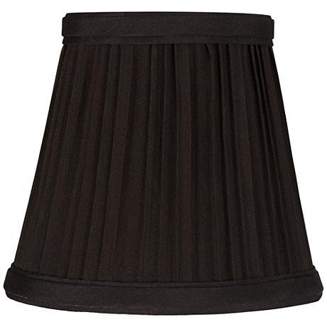 Black Mushroom Pleated Lamp Shade 3.5x5x5.5 (Clip-On)
