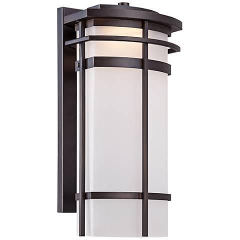 "Possini Euro Clemson 16 1/4""H Bronze LED Outdoor Wall Light"