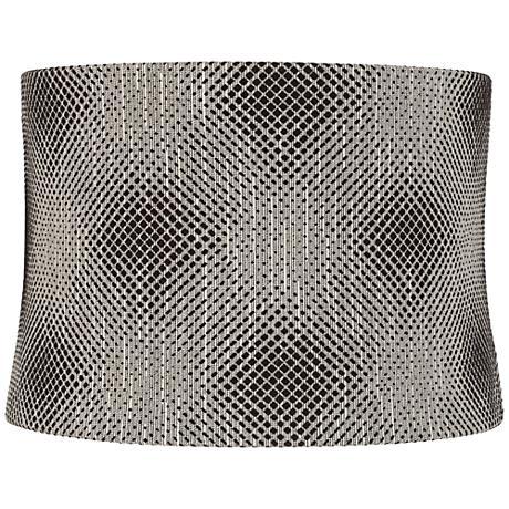 Black Pixels Drum Lamp Shade 15x16x11 (Spider)