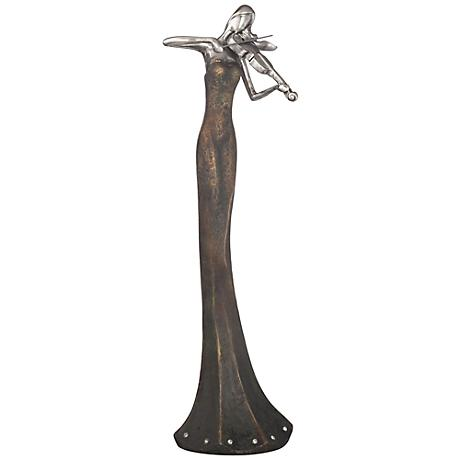 """Abstract Violinist 15 1/4"""" High Sculpture"""