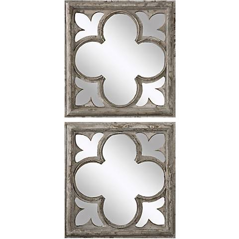 """Uttermost Vellauni 21"""" Square Wall Mirrors Set of 2"""