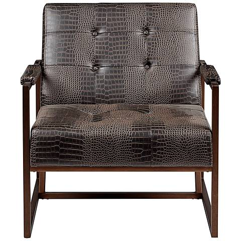 INK + IVY Waldorf Alligator Faux Leather Lounge Accent Chair