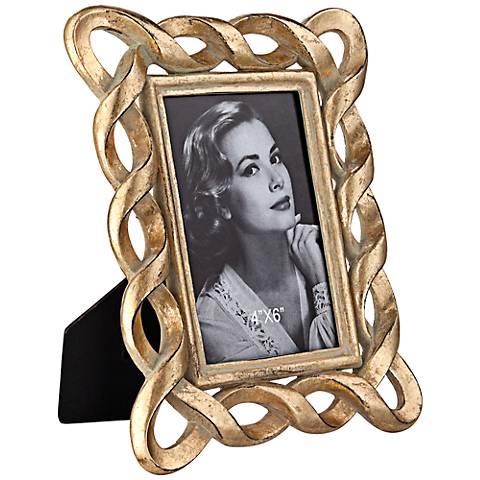Golden Swirl 4x6 Photo Frame
