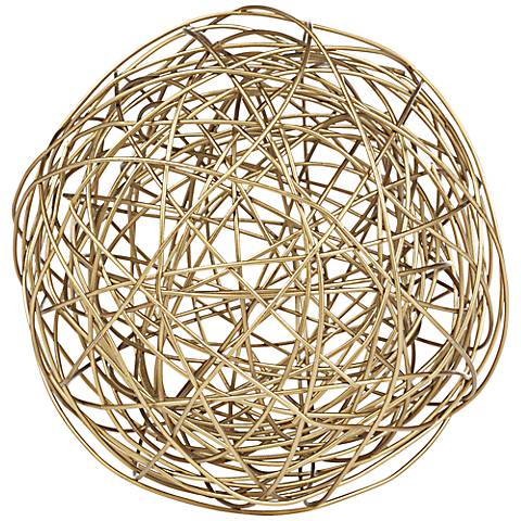 Large Gold Metal Wire Ball