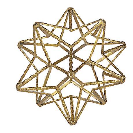 Small Gold Star Metal Ball