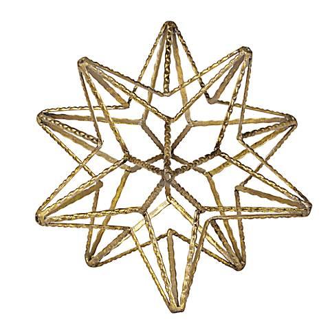 Metro Geo Medium Gold Star Metal Ball