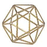 Small Gold Geometric Shaped Metal Ball